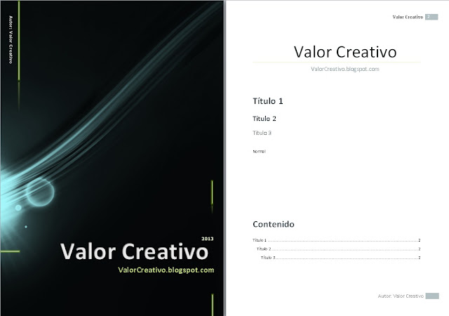 valor creativo  plantillas word 2003  2007  2010 y 2013