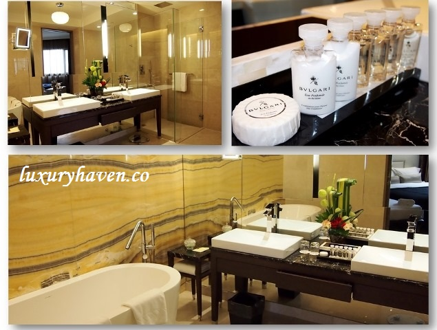 grand park orchard suite bathroom bvlgari amenities