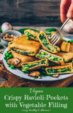 Vegan Ravioli Pockets (German 'Maultaschen')