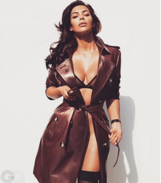 Kim Kardashian shares pictures from shoot for GQ Magazine