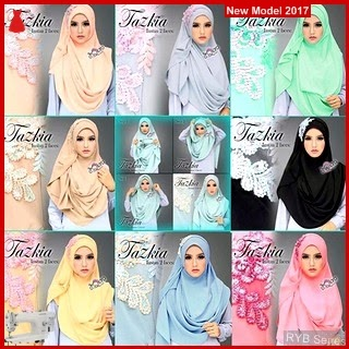 RYB027B Tazkia Pashmina Cantik Instant Murah 2 BMG Online Shop