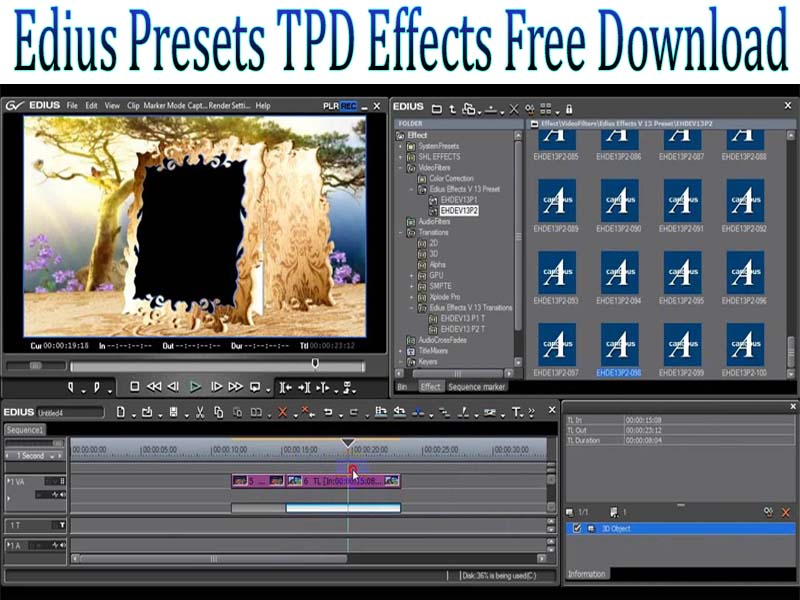 Edius Presets TPD Effects