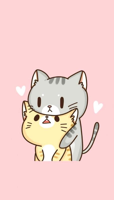 Cute Chibi Cat Love Wallpapers
