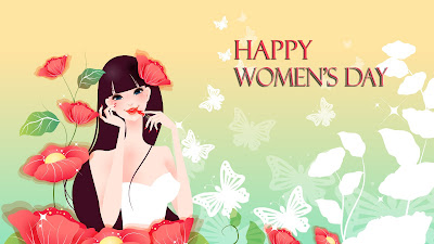 Cute Women's day greeting cards