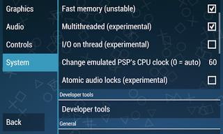 cara setting emulator PS2 / PSP 6