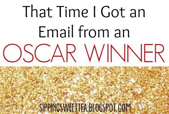 gold glitter, email, oscar winner,