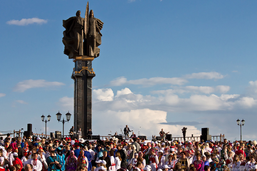 Группа Любэ на концерте Тысячелетия единения мордовского народа с народами России