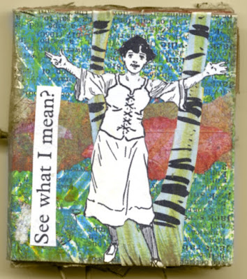 handmade book made with gelli prints