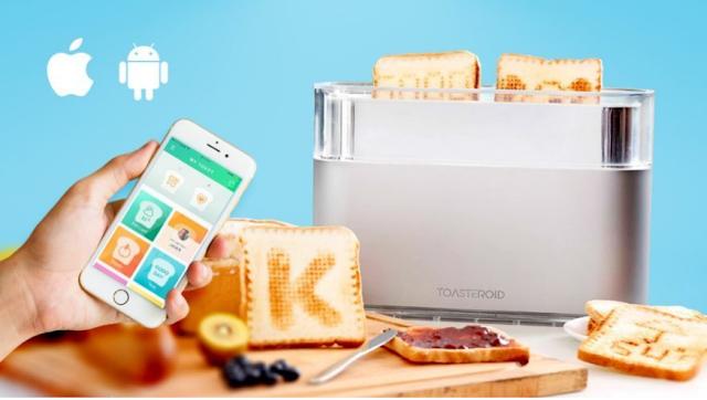 تطبيق مبهر لطباعة الرسوم على الخبز بشكل أكثر من مذهل وبواسطة البلوتث فقط , محمصة Toasteroid هي الآن موجودة  كمشروع في موقع kickstarter للتمويل الجماعي , عالم التقنيات , بسام خربوطلي