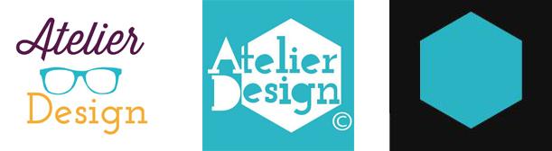 composição das três marcas já utilizadas. A primeira um composição tipografica com três cores, a do meio um hexagono com o fonte. E a última marca a mais atual.