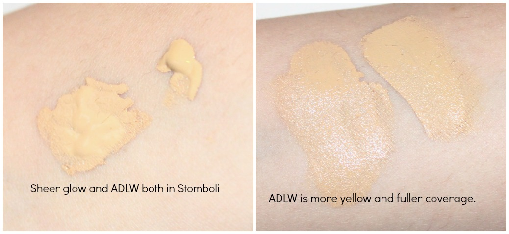 NARS Sheer Glow in Stomboli and NARS ADLW in Stromboli review and swatch