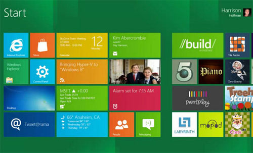 windows 8 startup screen
