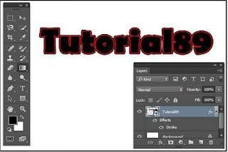Cara membuat tulisan dobel line dengan photoshop