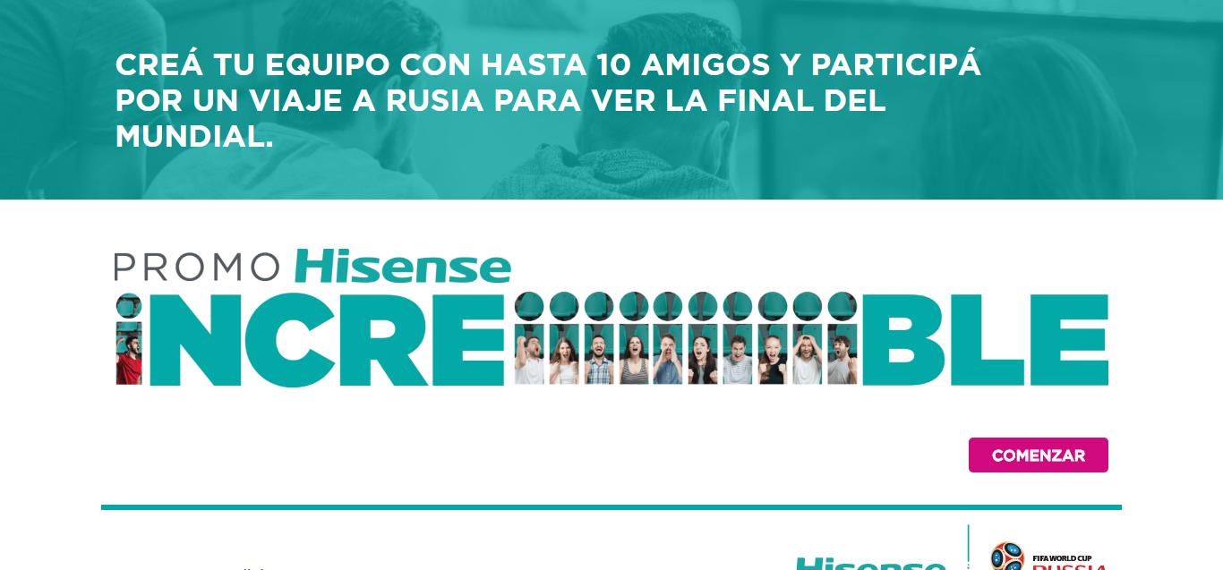 Promoción de Hisense para ganar un viaje a Rusia