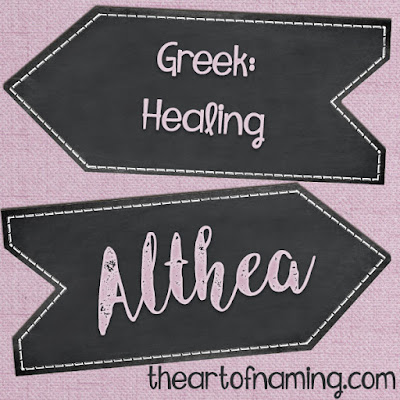 The Art of Naming - Greek legend name meaning healing