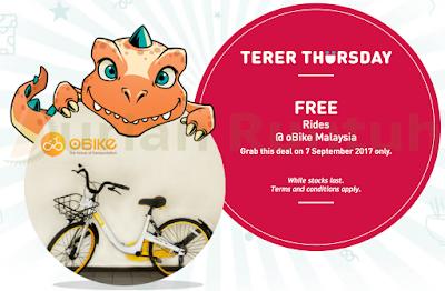 My U Mobile Terer Thursday Freebie Free oBike Rides