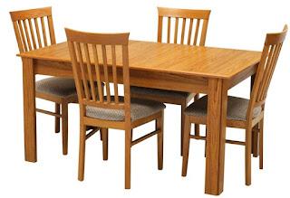 Meja makan minimalis 4 set