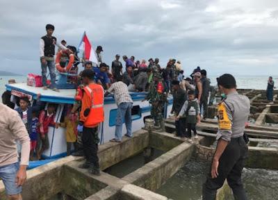 35 Warga Pulau Sebesi dan Sebuku Tiba di Canti