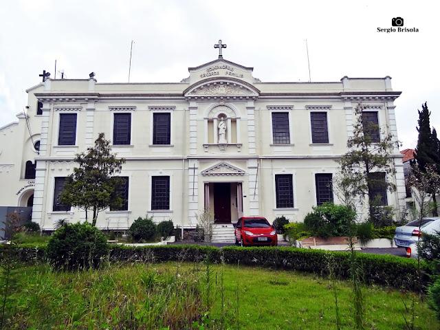 Vista da fachada do Educandário Sagrada Família - Ipiranga - São Paulo