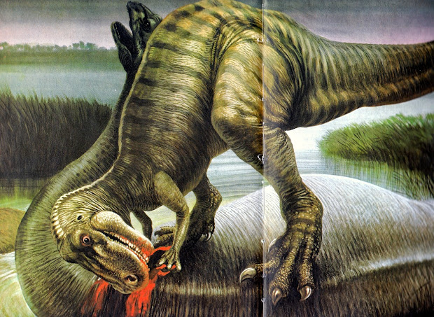 Love In Time Of Chasmosaurs Vintage Dinosaur Art