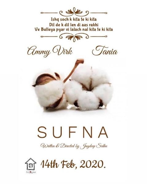 Sufna next upcoming punjabi movie first look movie Ammy, Tania Poster of download first look, release date
