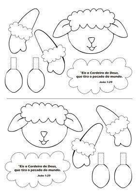 Moldes E Desenhos De Ovelhas De Páscoa Para Colorir Pintar