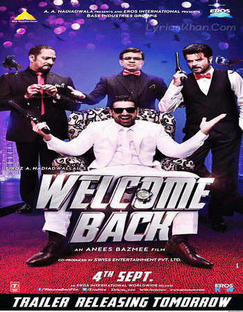Poster Of Welcome Back 2015 Hindi 160MB BRRip HEVC Mobile Watch Online Free Download Worldfree4u