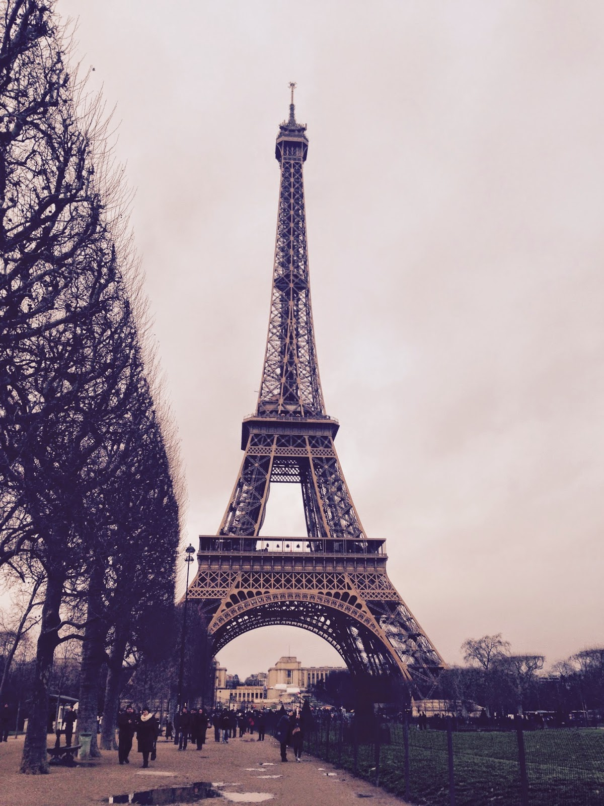 The Eiffel Tower in January