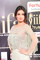 Sonal Chauhan in a stonework Floor Length Silver Designer Gown at IIFA Utsavam Awards March 2017 013.JPG
