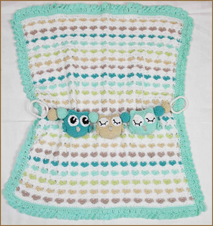 .: Crochet baby heartblanket - Virkad hjärtfilt