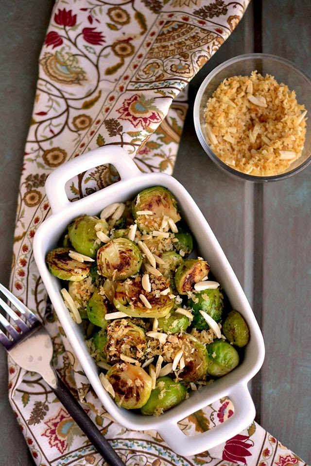 Seared Brussels Sprouts with Almonds