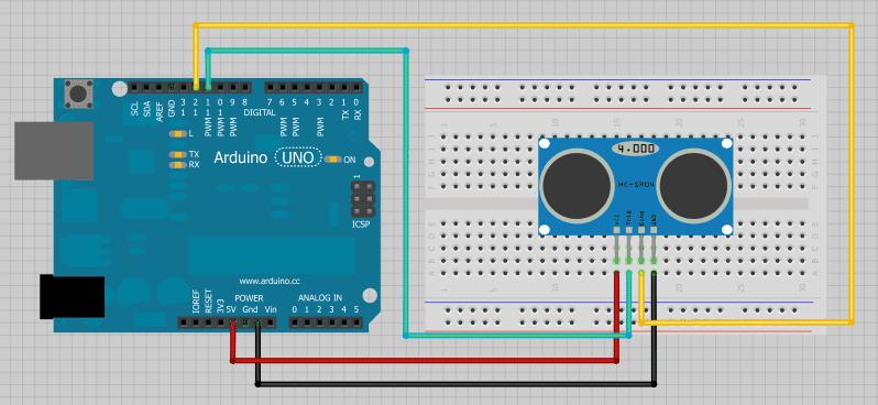 Rangkaian-HC-SR04-Ultrasonic-Sensor