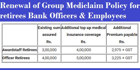 renewal-of-group-mediclaim-policy-for-bank-staff-paramnews