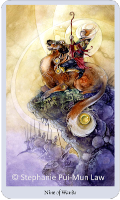 Shadowscapes Tarot Nine of Wands