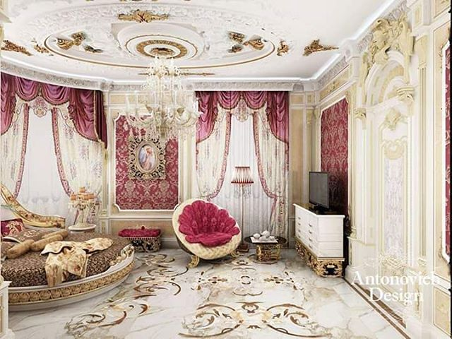 Luxury bedroom chandelier design stylish curtains ideas for bedroom