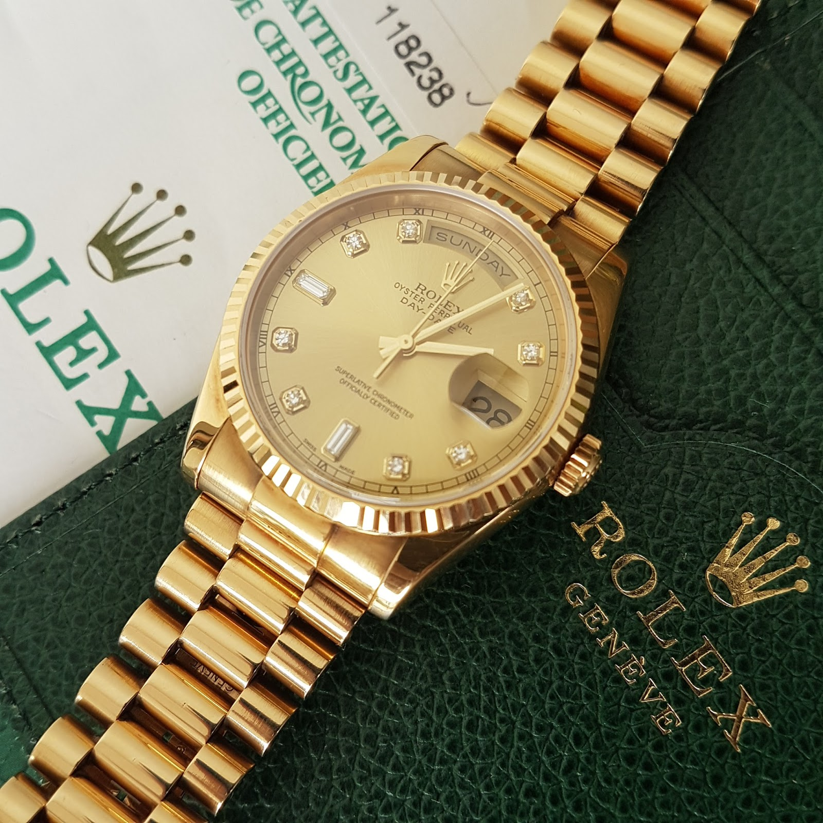 Jual Jam Rolex Gold Original Welcome To Tangan Pria Expedition 6631 Black Yellow Triple Time Bracelet 18k President Glass Sapphire Crystal Functions Day And Date Waterproof 10 Atm