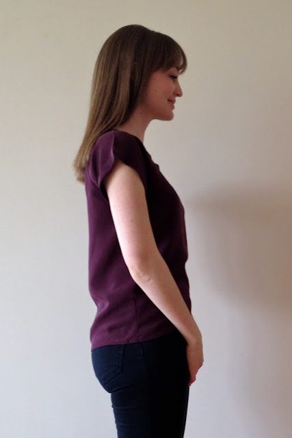 Diary of a Chain Stitcher: Silk Georgette Emmeline Tee from Little Tailoress