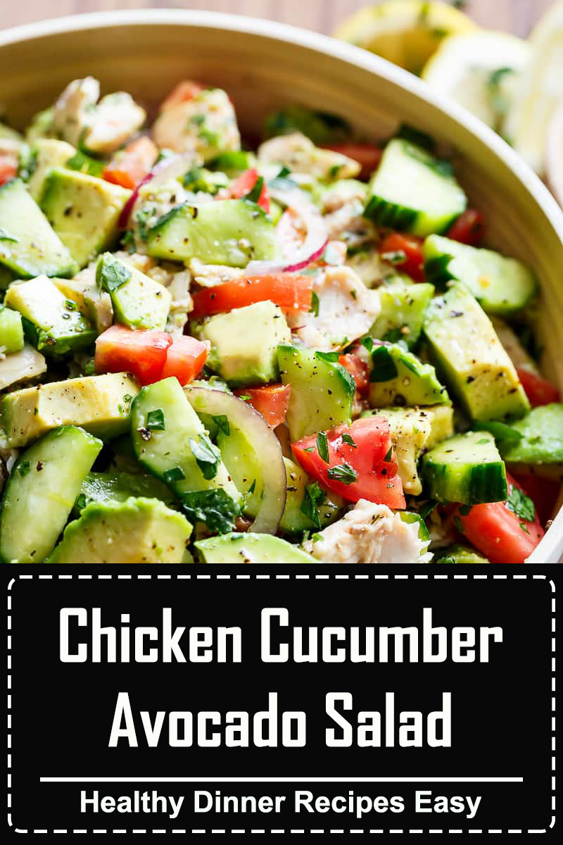 This chicken avocado salad with peanut dressing is a delicious and satisfying healthy meal! I howsweeteats.com #chickenavocado #salad
