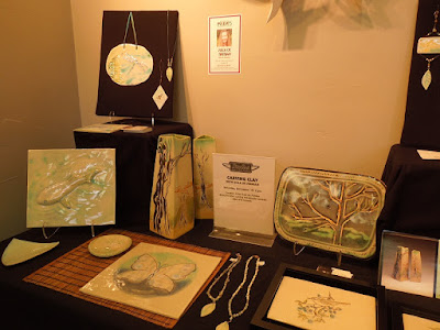 "Ceramics by Zola de Firian,  ""Handcrafted for the Holidays"" at Studios on the Park, Paso Robles, © B. Radisavljevic"