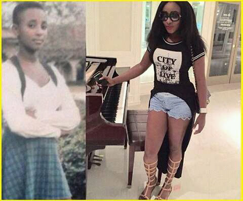 Ini Edo's secondary school throwback pic shows she was pretty from day one