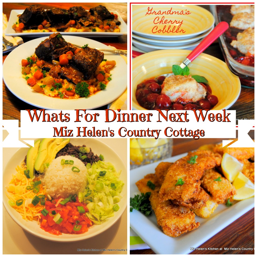 Whats For Dinner Next Week * Week of 2-16-20