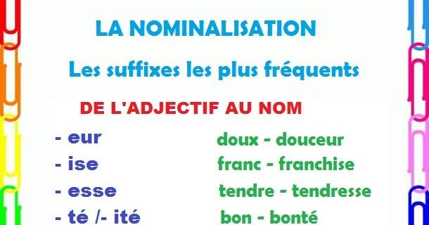 franc u00e9s de 2 u00ba de bachillerato  b1   la nominalisation