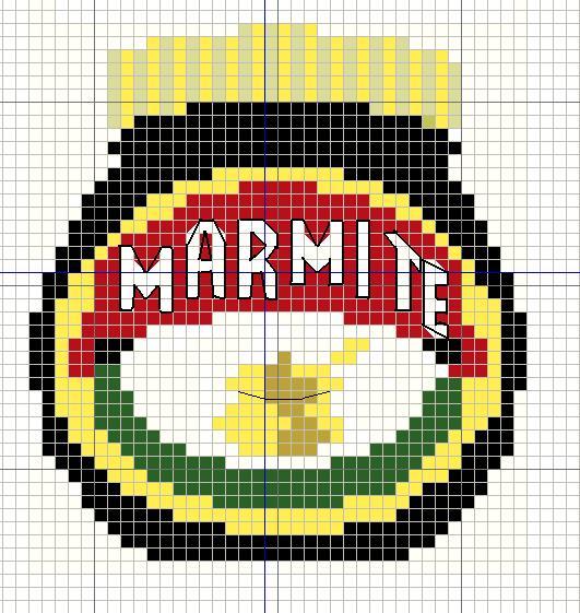 Buzy Bobbins: Marmite Cross stitch design