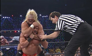 WCW Mayhem 1999 - Curt Hennig lost his 'retirement match' to Buff Bagwell