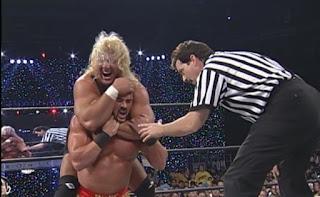 WCW Mayhem 1999 - Curt Hennig lost his 'retirement match' to Buff Bagwell
