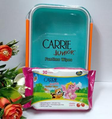 wipes, hand wipes, tisu basah, Carrie Junior Funtime Wipes, carrie junior wipes, CJ wipes, harag wipes carrie junior, kegunaan tisu basah, cara menggunakan tisu basah, antibacterial wipes, status halal tisu basah, carrie junior, carrie junior malaysia