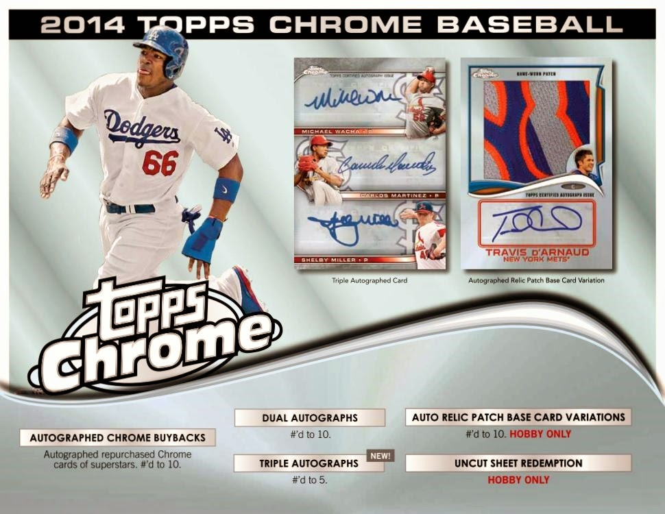 newest b89e3 544f8 Sports Cards Plus Store Blog: 2014 TOPPS CHROME BASEBALL SET ...