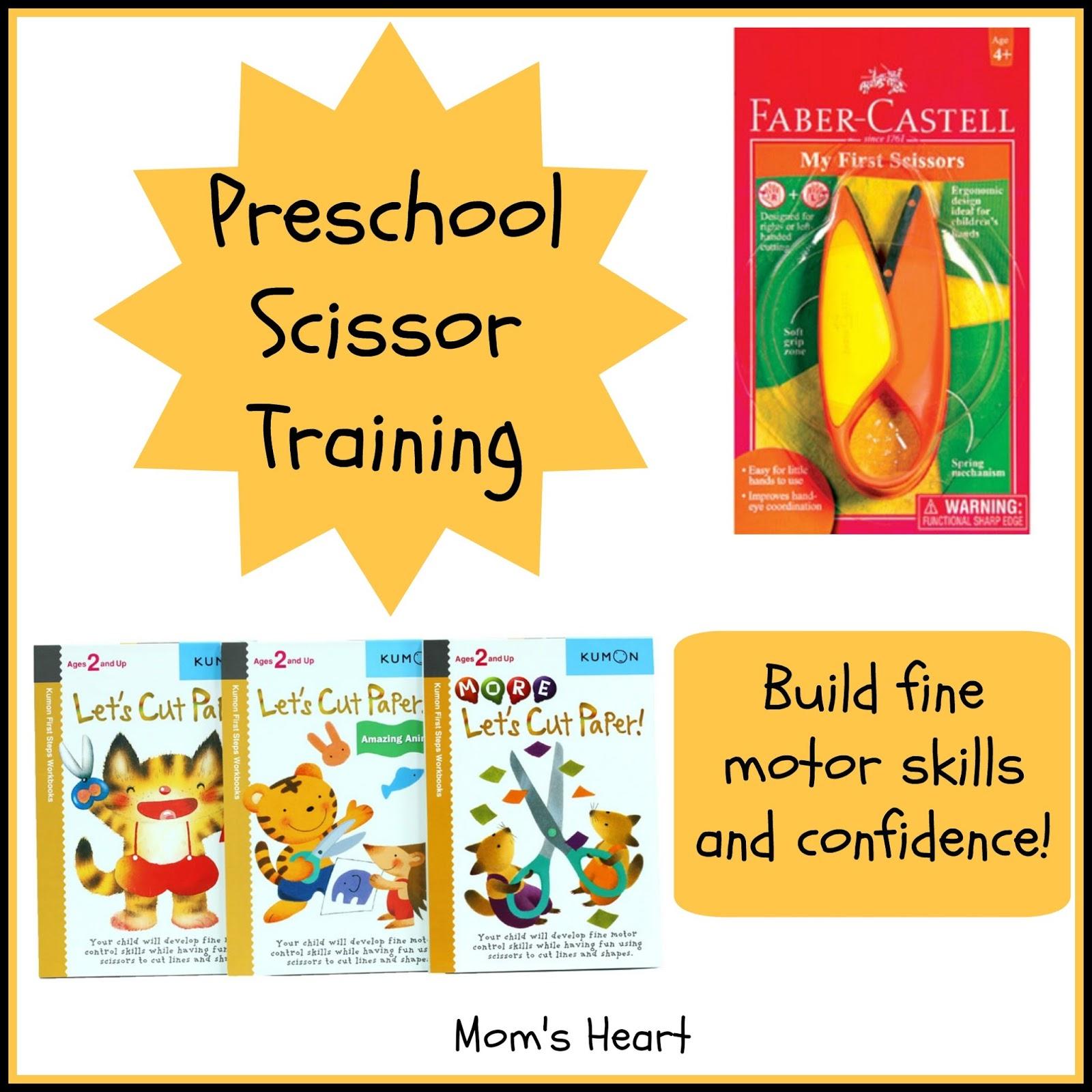 Mom S Heart Preschool Scissors Training