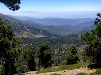 View south from Mount Islip Trail on the north flank of Mount Islip, Crystal Lake, Angeles National Forest