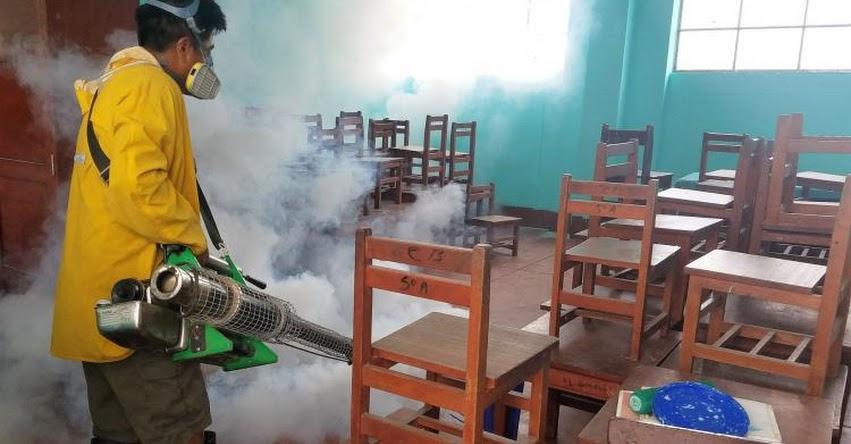 Aceleran fumigación de colegios en Lambayeque ante el inicio de clases